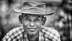 Myanmar - Birmania (peo pea) Tags: old bw man smile portraits bn ponte myanmar sorriso ritratto bianconero reportage vecchio teak amarapura birmania