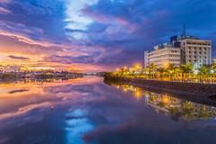 Iloilo River  [EXPLORED] (mambol) Tags: longexposure sunset clouds cloudy boardwalk iloilocity iloiloriver medicusmedicalcenter esplanadeiloilo iloilophotography mandurriaoiloilo