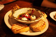 goat cheese appetizer (wanderingstoryteller) Tags: food cheese bread restaurant eat louisville appetizer goatcheese
