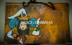 2014 - Vancouver - Dolce & Gabbana (Ted's photos - For me & you) Tags: face vancouver bag cord bc head rope lips redlips strings cropped earrings taormina vignetting snakes handbag vancouverbc shoppingbag threelegs trinacria dolcegabbana 2014 vancouvercity tedsphotos taorminaitaly