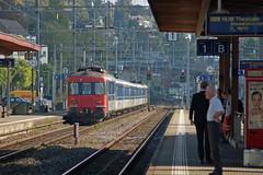 Tiefenbrunnen station connecting Zurich S-Bahn and tram services (pchurch92) Tags: switzerland zurich tram sbb zvv tiefenbrunnen