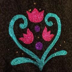 #wip #glitter #princess #costume #guesswho #anna #frozen #handmade #handcrafted #happyhalloween #halloween #fabric #cotton #madewithlove #bygloricom #dressup