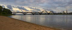 rybinsk (Sergey S Ponomarev) Tags: city travel bridge sunset sky panorama cloud church clouds canon river landscape cityscape cathedral russia pano north belltower volga             600d rybinsk 24105l     sergeyponomarev