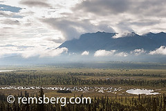 Alaskan Landscape (Remsberg Photos) Tags: usa mountain mountains scale nature alaska solitude ominous tranquility nopeople palmer remote isolation wilderness awe exploration idyllic cloudcover intimidating removed mountainrange inthedistance faroff lastfrontier coldtemperature