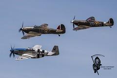 EAGLE SQUADRON......HURRICANE, SPITFIRE, P-51C MUSTANG (Gaz West) Tags: interesting eagle hurricane explore spitfire mustang squadron p51c