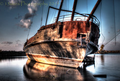 100 years old (13skies) Tags: old ontario abandoned dead ship harbour rusted derelict stranded qew listing ghostship jordanstation leprogress