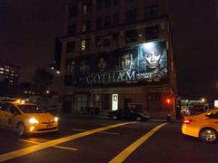 Gotham (UrbanphotoZ) Tags: nyc newyorkcity ny newyork night trafficlight manhattan taxi fox5 billboard midtown oneway westside gotham sept mondays clearchannel glassbricks javitscenter tenthave thegoodtheevilthebeginning