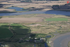 Barling Hall (Essex Explorer) Tags: aerial essex riverroach barling img4389 barlinghall barlinghallcreek