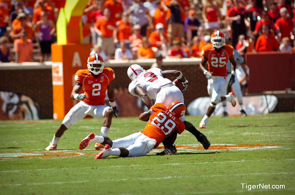 Clemson Photos: 2008, Football, Haydrian  Lewis, N C  State
