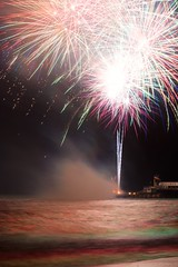 Smoke on the water (Andrea Munns) Tags: bay nikon colours fireworks awesome isle wight sandown iow 2014 d5200
