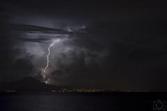 Tormenta 10/10/2014 (Sento MM) Tags: noche mar playa alicante sanjuan tormenta nocturna benidorm rayos