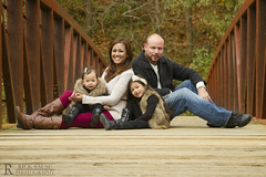 Autumn Family Portrait on Steel Bridge