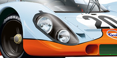 Porsche 917K (Alansart) Tags: adobe porsche illustrator 1970 lemans 917k brianredman josiffert