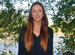 River and Leave Background (PhotoAmateur1) Tags: flowers blue autumn woman brown black cold green fall feet beautiful beauty smile face weather leather smiling shirt female wonderful hair neck outside outdoors sweater model eyes rocks long arms legs boots sweet head top feminine background gorgeous femme country lips jeans denim tall brunette lovely thin collarbone october42014