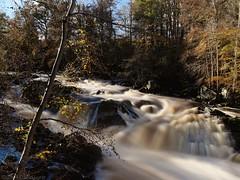 Falls of Feugh autumn 4 (D-j-L) Tags: longexposure autumn sun leaves river scotland waterfall aberdeenshire pentax sunny falls k5 banchory ndfilter smoothwater pentaxart