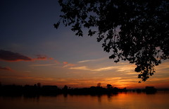 Zalazak na Savi (Sunset on the river Sava), Slavonski Brod
