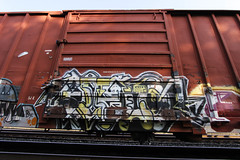 avelo (Revise_D) Tags: red graffiti graff tagging freight revised trainart fr8 bsgk benching frfr fr8heaven fr8aholics revisedesign fr8bench benchingsteelgiants freightlyfe