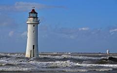 New Brighton lighthouse (Lee1885) Tags: sea lighthouse water liverpool waves wirral newbrighton perchrock