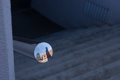 what caught my eye (Salle-Ann) Tags: urban reflection stairwell handrail