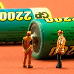 Green energy (jopperbok) Tags: people orange macro green toys miniature model energy groen power energie battery mini figure labour littlepeople figures oranje arbeid mensen odt miniaturepeople miniaturefigures miniaturefigure railwayfigures miniaturepeoplephotography jopperbok miniaturefiguresphotography