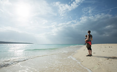 Great light on Miyako-jima (SamKent22) Tags: ocean trip sea vacation baby holiday beach japan island holding asia paradise daughter mother tropical okinawa miyako miyakojima tropics