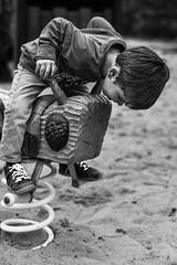 Hey, was ist los mit dir? (FriendFisherman) Tags: blackandwhite bw white black playground nikon df f14 kind sw nikkor 58mm schwarz spielplatz weis schwarzweis