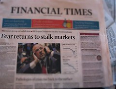 Fearing the Stalk Market (Dan_DC) Tags: newspaper dc media sp headlines ft financialtimes frontpage financial journalism pearson hed pun wordplay finance dow stockmarkets cleverheadlines