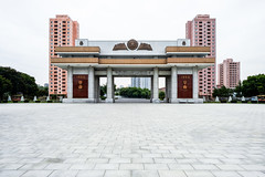 Liberation War Museum entrance from behind (jonas_k) Tags: travel northkorea pyongyang dprk pjöngjang