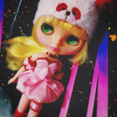 😆 When #disco meets #HALLOWEEN 🎃✨✨✨ #love  #fun #colors #retromama #blythe #doll #ブライス #dollstagram #toyartistry #vscocam