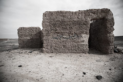 House (NicVW) Tags: africa blue blackandwhite white house black yellow wall sand cabin desert mud dunes hard dry morroco maroc ouarzazate merzouga dryness aerg