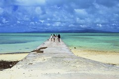 The end of the road (Masa_N) Tags: sea summer people japan okinawa taketomiisland