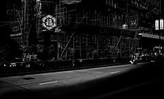/ Bless Hong Kong (kinalisa) Tags: bw hongkong mk streetsweeper 2014 studentstrike monkok bambooscaffold umbrellarevolution hongkongprotest umbrellamovement occupycentral fujifilmx100s