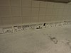Bathroom tiling (kevincrumbs) Tags: peanuts snoopy charliebrown santarosa sallybrown lucyvanpelt charlesmschulzmuseum linusvanpelt charlesmschulzmuseumandresearchcenter