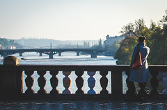 / prague / (aubreyrose) Tags: travel water river europe view prague bridges czechrepublic vltava 2014