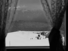 (D.F.D.) Tags: morning winter blackandwhite mountain snow window bn finestra solo neve