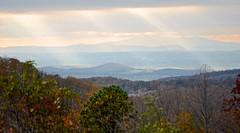 Shenandoah National Park, Skyline Drive, light beams, God rays,