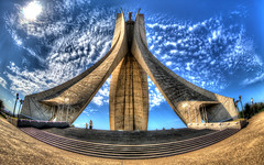 Maqam Echahid (Red EYE Photos) Tags: africa monument algeria memorial el martyrs hdr afrique algiers alger photomatix riadh feth mariankonieczny bachiryelles