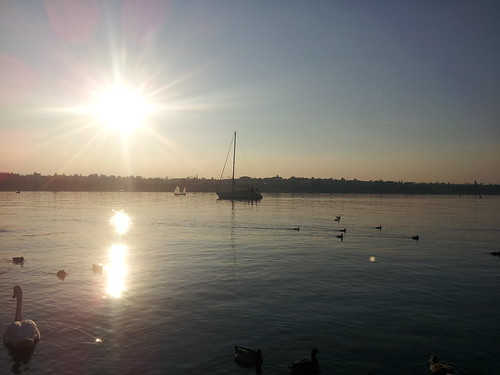 Coucher de soleil à Peschiera del Garda