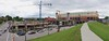 Newport on the Levee (Travis Estell) Tags: panorama crane newportonthelevee constructioncrane towercrane northernkentucky