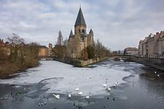 Metz - Le Temple Neuf (Añelo de la Krotsche) Tags: metz letempleneuf winter hiver easternfrance moselle lorraine gel