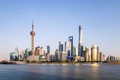 Shanghai skyline (Alex Tudorica) Tags: shanghai china skyline long exposure river water travelling canon tower highet deck observational world