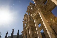 Library of Celsus, Ephesus, Turkey (tenacityinpursuit) Tags: asia buildings culture efes ephesus facade greek greekruins history libraryofcelsus ruins sun sunburst turkey architecture acarlarköyü izmir tr