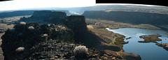 Goal reached!... 20030928_086-7 (listorama) Tags: dryfalls grandcoulee basalt easternwashington dbnotes dryfallslake umatillarock