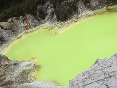 Stinky Shiny Yellow Pool (eyair) Tags: ashmashashmash rotorua nz newzealand waiotapu thermalwonderland