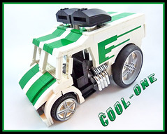 Cool-One (Lino M) Tags: freezer ice cream cool one coolone hotwheels hot wheels lego lino martins car truck van white green custom lugnuts for your exhibition build challenge