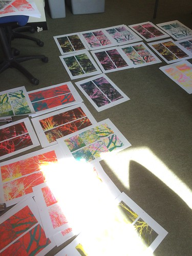 "Intersect work in progress - Riso prints hot off the press! • <a style=""font-size:0.8em;"" href=""http://www.flickr.com/photos/61714195@N00/32897761784/"" target=""_blank"">View on Flickr</a>"