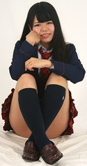 My Teacher Made Us Sit (emotiroi auranaut) Tags: girl schoolgirl pretty smart charming beauty beautiful school uniform face hair coat skirt legs socks shoes female feminine femininity intelligent story japan japanese asia asian knees lovely attractive