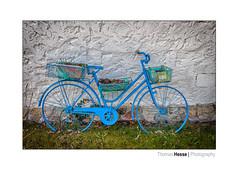 Das blaue Fahrrad (Der Zeit die Augenblicke stehlen) Tags: blau deutschland eos700d fahrrad fokussiert frühling hth56 spring thomashesse bicycle lars gustafsson blue