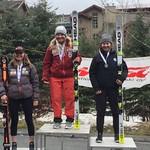 Whistler Spring Series U19 GS Podium - Kristina Natalenko 1st; Nicole Mah 2nd; Claire Timmermann 3rd