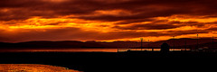 Sunset on the Firth (Brian Travelling) Tags: firthofclyde sunset sky clouds water silhouette ayrshire northayrshire scotland scenery scenic scottish scots amber orange red black pentaxkr pentax pentaxdal calm